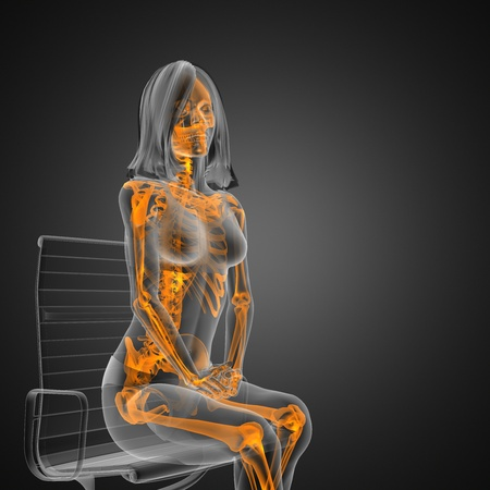 radiografia donna carina realizzata in grafica 3D Archivio Fotografico