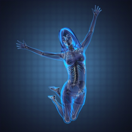 cute woman radiography made in 3D graphics Stock Photo - 12609834