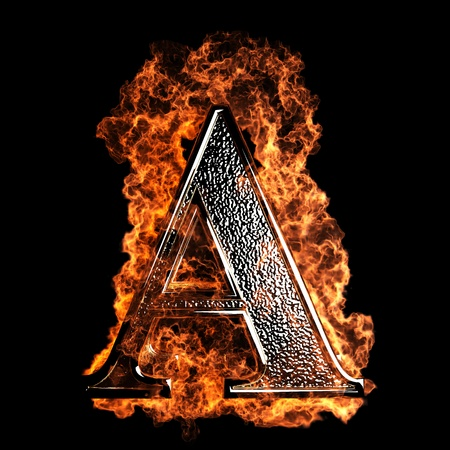 burning Letter made in 3D graphics