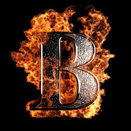 Lettre de brûlure faite dans le graphisme 3D