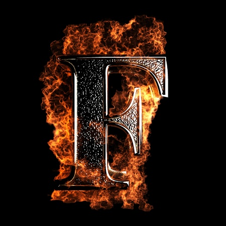 burning Letter made in 3D graphics Stock Photo - 12870617