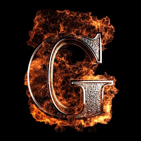 letras negras: Carta de la quema realizada en gráficos 3D Foto de archivo