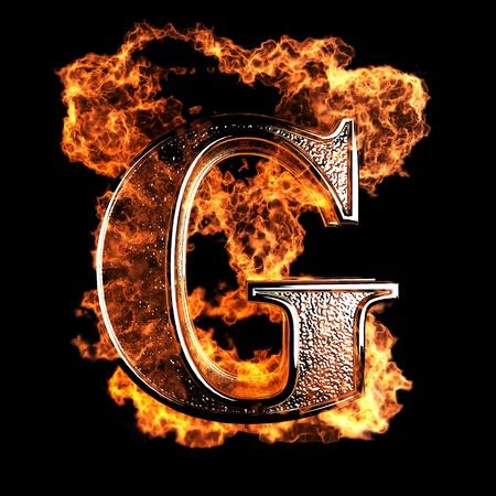 brandende Brief gemaakt in 3D-graphics