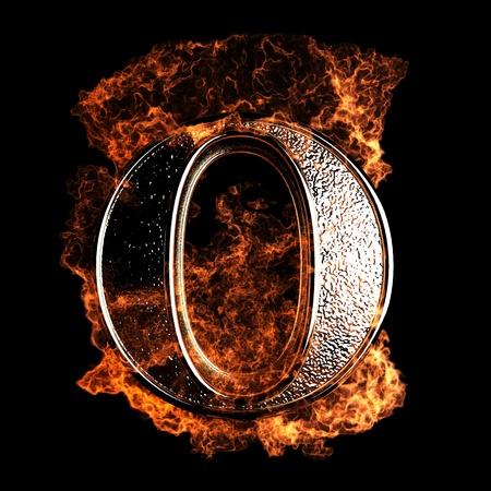 tipos de letras: Carta de la quema realizada en gráficos 3D Foto de archivo