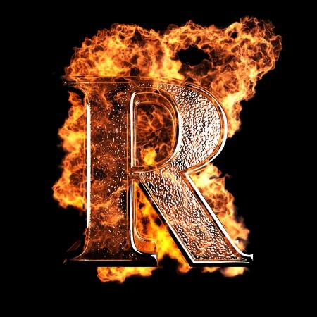 Lettre de brûlure faite dans le graphisme 3D Banque d'images