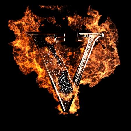 resplandor: Carta de la quema realizada en gr�ficos 3D Foto de archivo