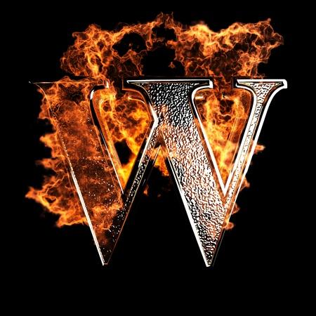 quemadura: Carta de la quema realizada en gr�ficos 3D Foto de archivo