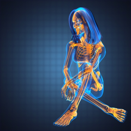 cute woman radiography made in 3D graphics Фото со стока