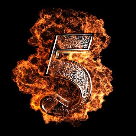 quemadura: figura la quema realizada en gráficos 3D