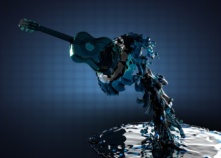 frets: Guitar in water made in 3D