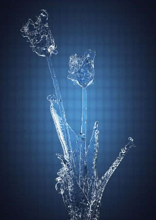 Flower of ice made in 3D Stock Photo - 12870876