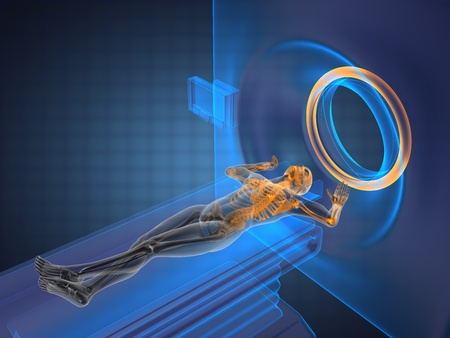MRI examination made in 3D graphics photo