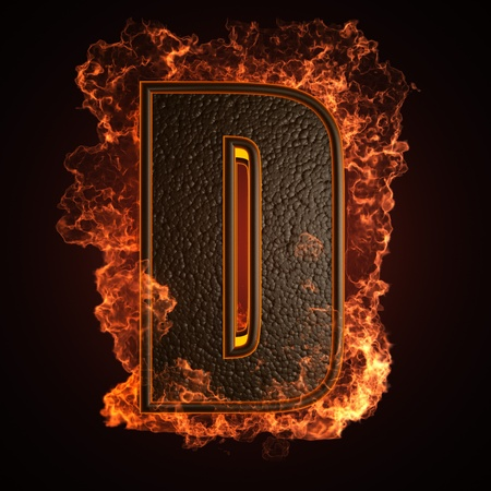 burning Letter made in 3D graphics Stock Photo - 12964074