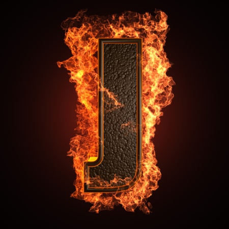 burning Letter made in 3D graphics Stock Photo - 12964056