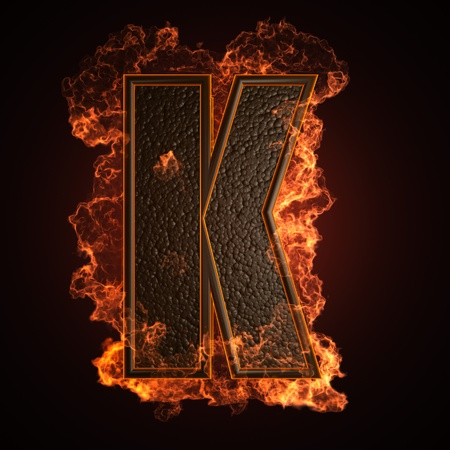 burning Letter made in 3D graphics photo