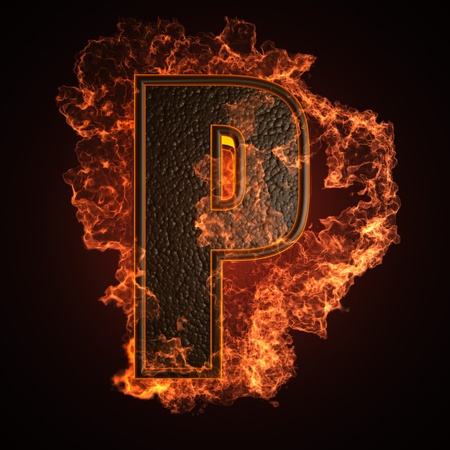 burning Letter made in 3D graphics Stock Photo - 12964067