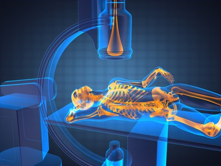 x-ray examination made in 3D graphics photo