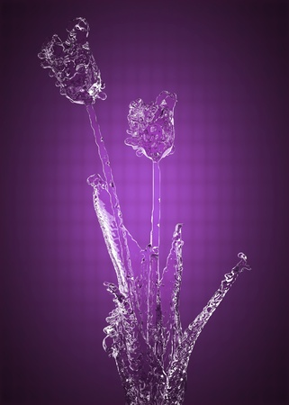 Flower of ice made in 3D Stock Photo - 13035906