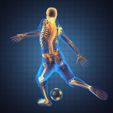 calciatore gioco realizzato in 3D