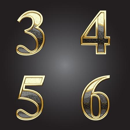 Golden and silver vector figure Vector
