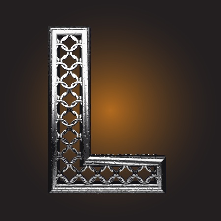 cattle guard: Metal figure made in vector