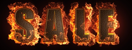 burning word made in 3D graphics photo