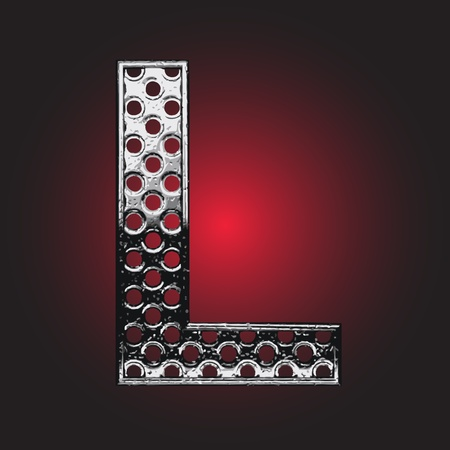 aluminio: Figura metal hizo en el vector Vectores