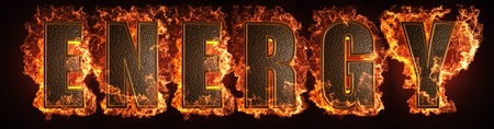 burning word made in 3D graphics Stock Photo - 13526809