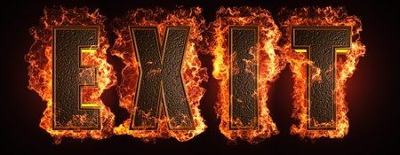 burning word made in 3D graphics Stock Photo - 13526813