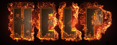 burning word made in 3D graphics Stock Photo - 13526826