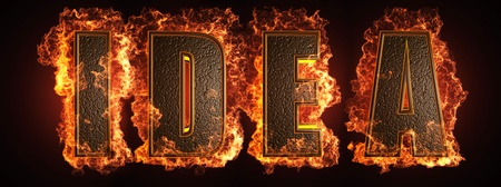 burning word made in 3D graphics Stock Photo - 13526816