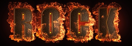 burning word made in 3D graphics Stock Photo - 13526825