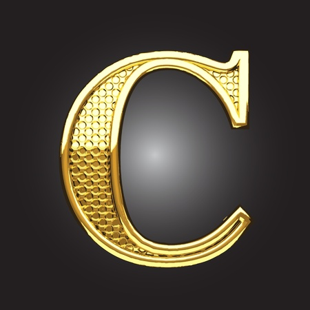 letters gold: golden figure made in vector