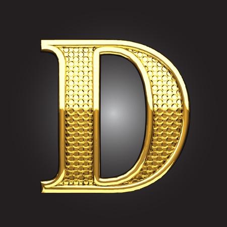 d: golden figure made in vector
