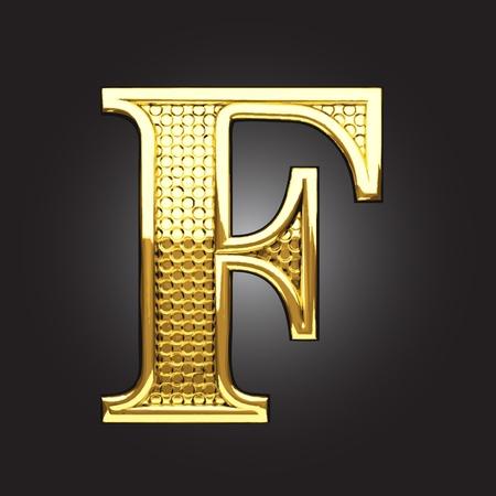 uppercase: figura de oro hecho en el vector