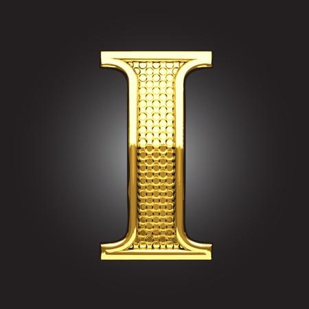 letras de oro: figura de oro hecho en el vector