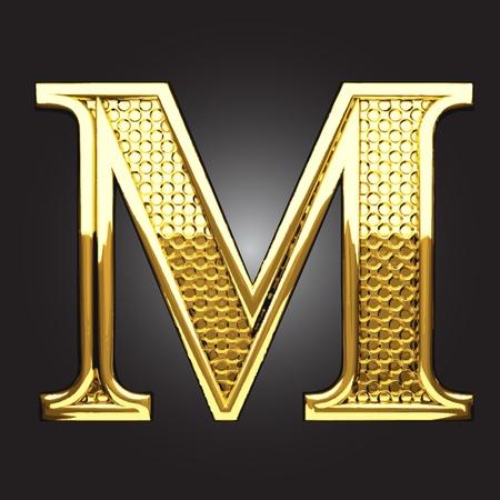 uppercase: golden figure made in vector