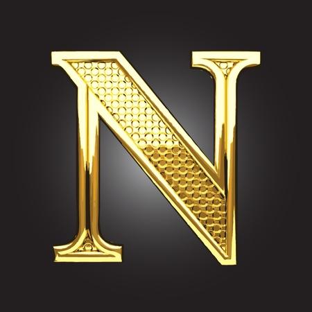 N: golden figure made in vector