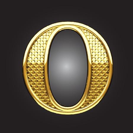 lettres en or: la figure dor�e faite dans le vecteur