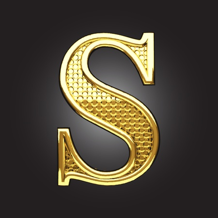 typographic: golden figure made in vector