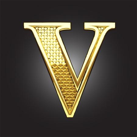 letras doradas: figura de oro hecho en el vector