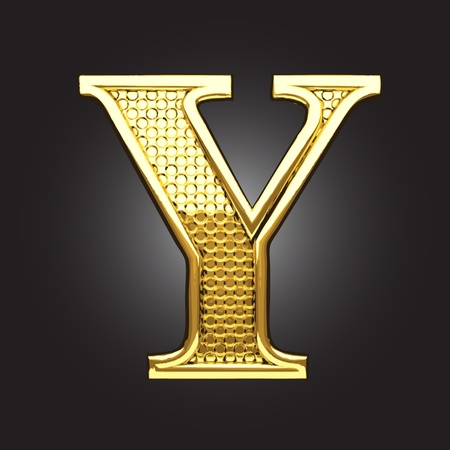 golden figure made in vector Vector