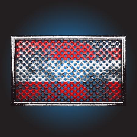 war paint: bandera en el metal de la vieja