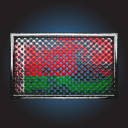oxidized: flag on old metal