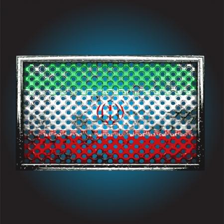 war paint: bandera en metal