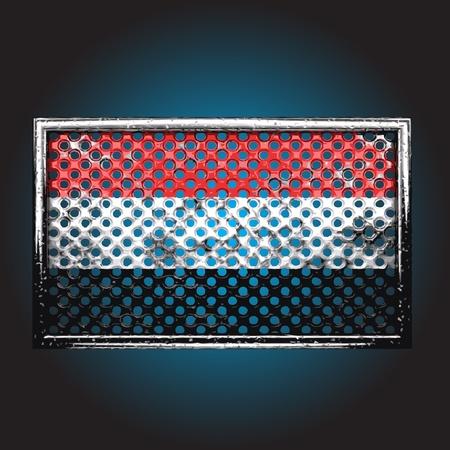 rusting: flag on old metal