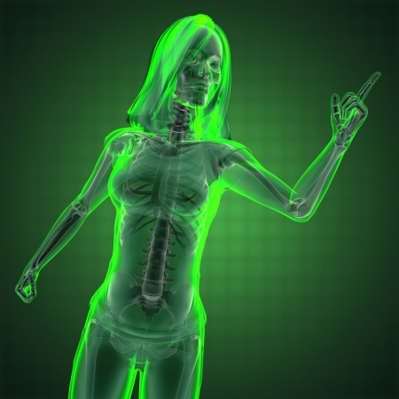 cute woman radiography made in 3D graphics Stock Photo - 13734140