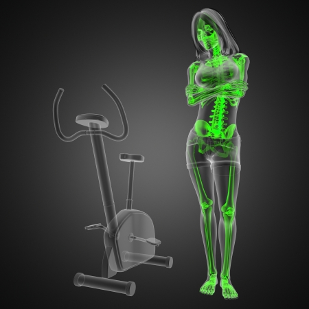 woman  radiography scan in gym room made in 3D Stock Photo - 13734169
