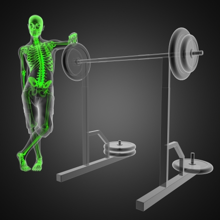 human radiography scan in gym room Stock Photo - 13734154