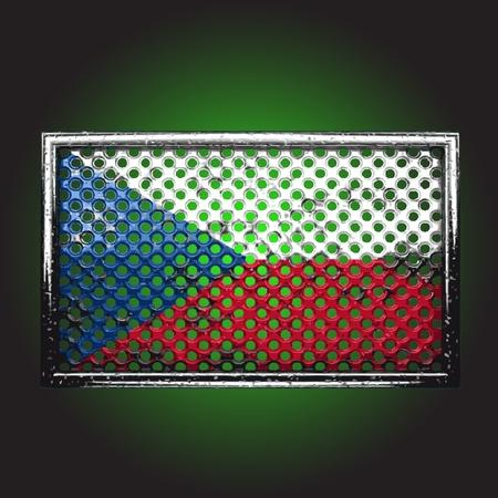 war paint: bandera en el metal de la vieja hecha en el vector Vectores